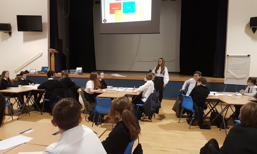 40 Secondary 2 pupils took part in the workshop