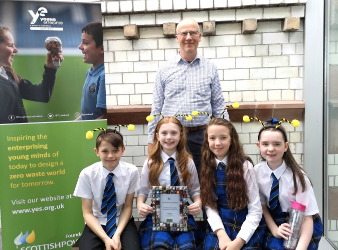 The winners of our Scottish Power Foundation Overall Business Idea, Blacklaw Primary in East Kilbride