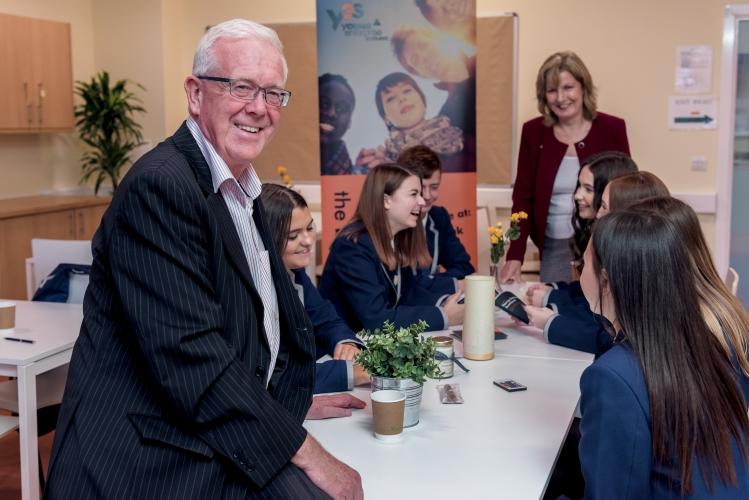MSP Bruce Crawford meets Stirling High School Pupils