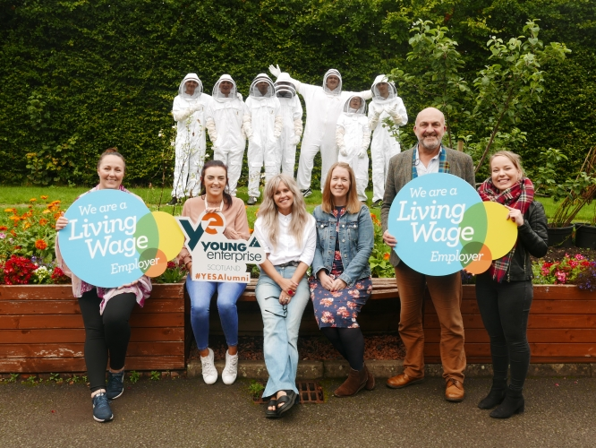 YES team elcome the Living Wage Employer Mark