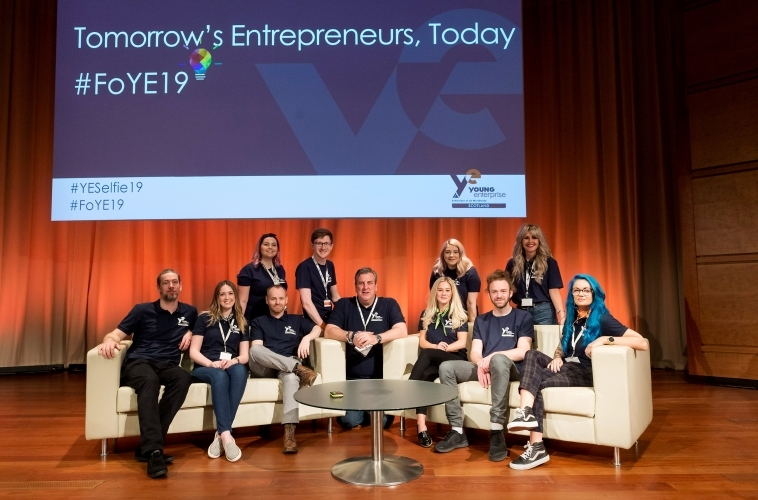 Young Enterprise Scotland Team at 2019 festival of Youth Enterprise