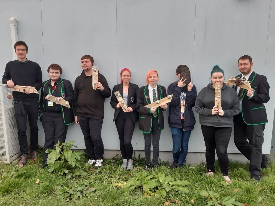 The Highland Driftwood team with their handmade products