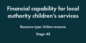Fin. Capability for children's services